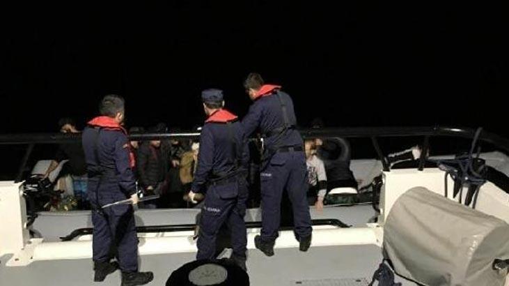 Çeşme'de 68 kaçak göçmen yakalandı!