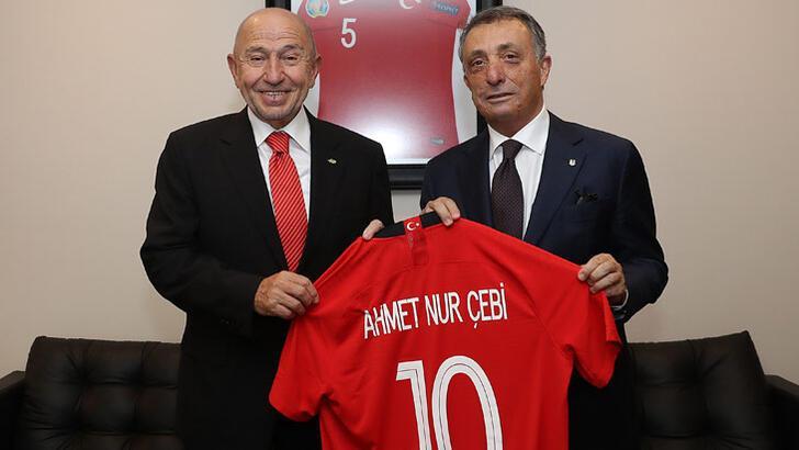 Başkan Çebi, TFF Başkanı Özdemir'i ziyaret etti