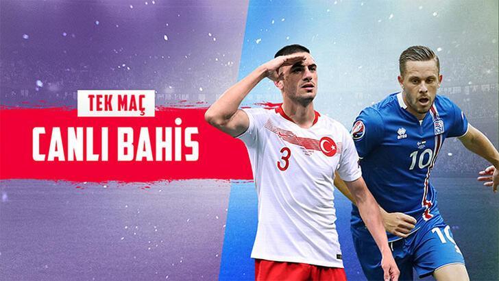 Türkiye-İzlanda maçının canlı bahis heyecanı Misli.com'da