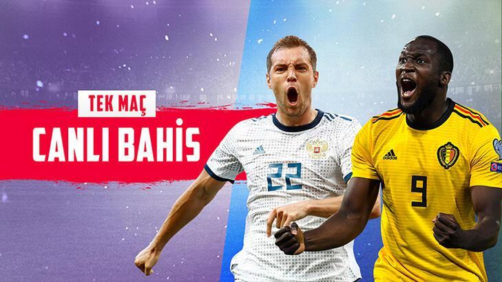 Rusya – Belçika maçı Canlı Bahis, yüksek oranlar ve birçok yeni bahis türüyle Misli.com'da