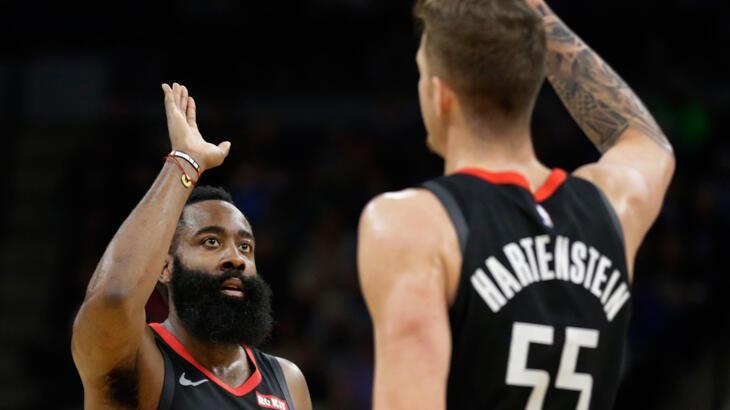 Harden 49 sayı attı, Rockets üst üste 7. kez kazandı