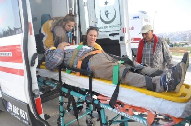 Tekirdağ'da çatıdan düşen işçi yaralandı