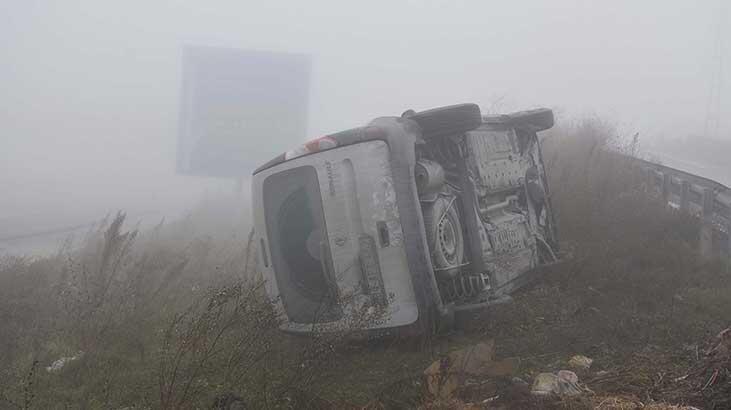 Arnavutköy'de sis kazaya neden oldu
