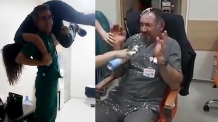 Hastane çalışanlarından 'pes' dedirten eğlence!