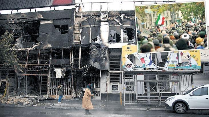 İran'da şiddet duruldu geride enkazı kaldı!..