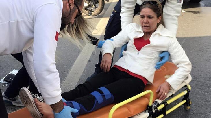 Yaralı kadın çaresizce ambulans bekledi!