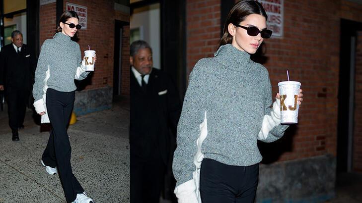 Kendall'ın yeni aksesuarı: Kahve bardağı