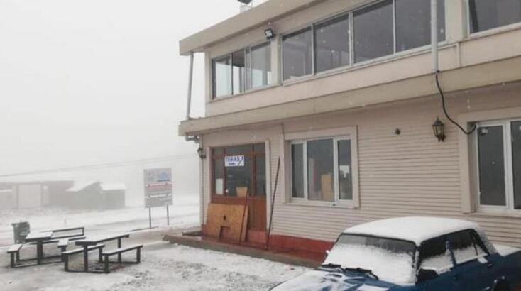 Salda'ya mevsimin ilk karı yağdı
