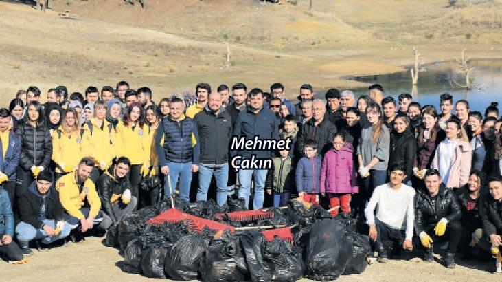 Karaağaç'tan 6 ton çöp çıktı