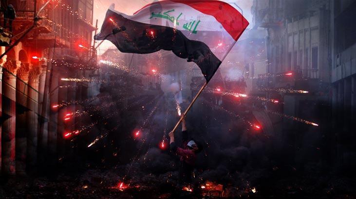 Irak'ta göstericiler Kerbela İl Meclis binasına girmeye çalıştı