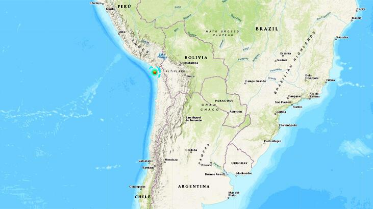 Son dakika... Şili'de deprem