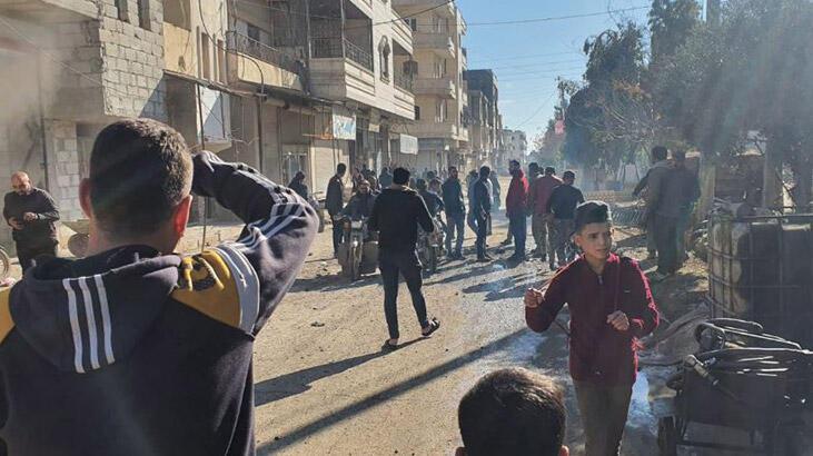 Tel Rıfat'ta yuvalanan YPG/PKK'lı teröristler Azez'deki sivillere saldırdı!