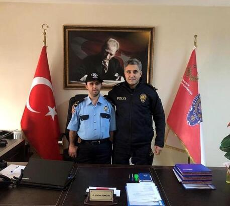 Otizmli Ömer'in polis olma hayali gerçek oldu