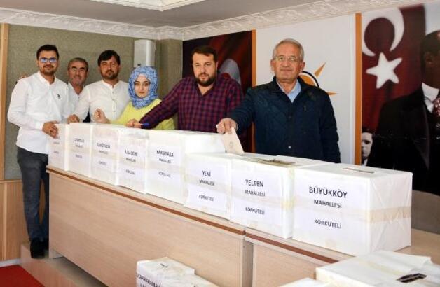 Korkuteli'de AK Parti delege seçimi