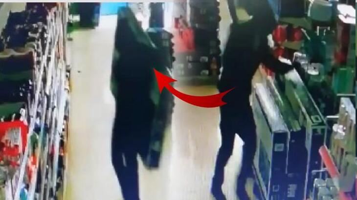Marketten televizyonları alıp kaçtılar!