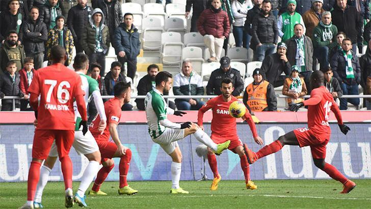 İttifak Holding Konyaspor-Gaziantep FK: 0-0