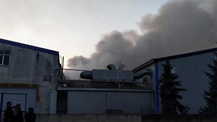 Fındık fabrikasında korkutan yangın!
