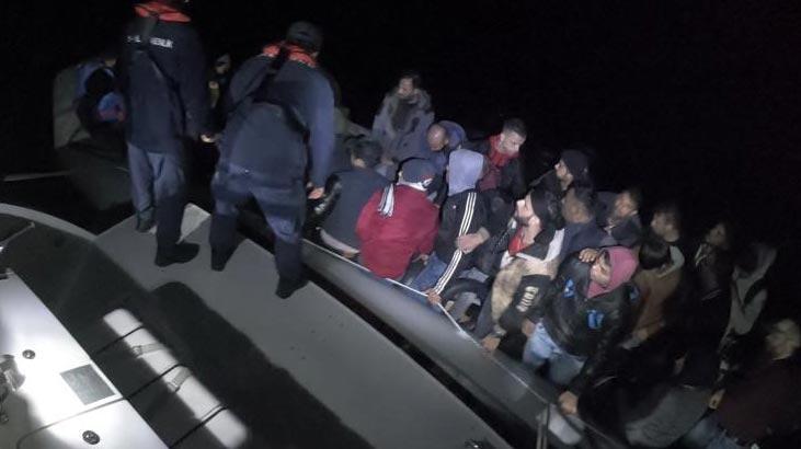 Muğla'da üç lastik botta 63 düzensiz göçmen yakalandı