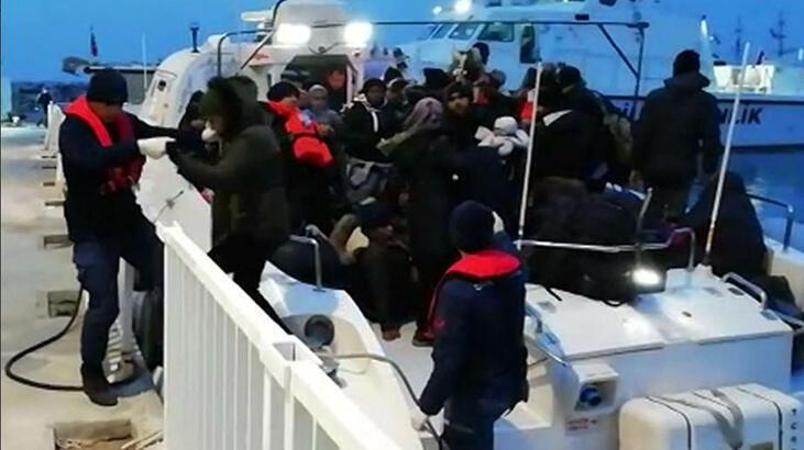 Dikili ve Çeşme'de 105 kaçak göçmen yakalandı