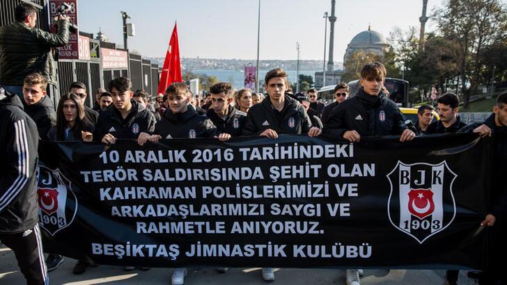Beşiktaş'taki terör saldırısında şehit düşenler anıldı