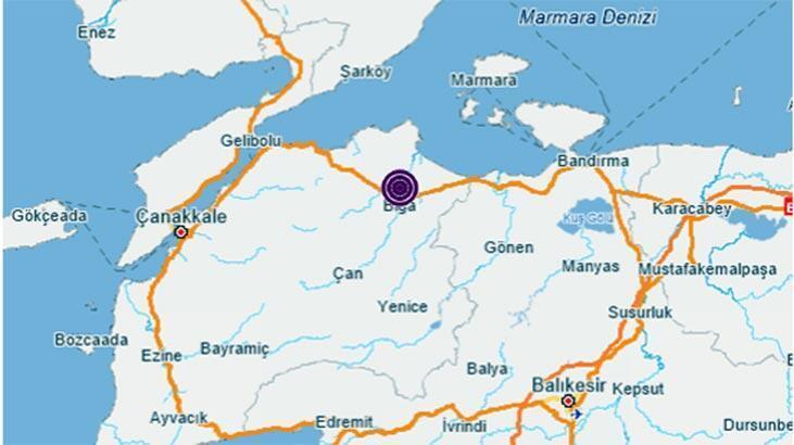 Çanakkale'de deprem mi oldu? Son dakika Çanakkale deprem haberi - 11 Aralık Kandilli Rasathanesi