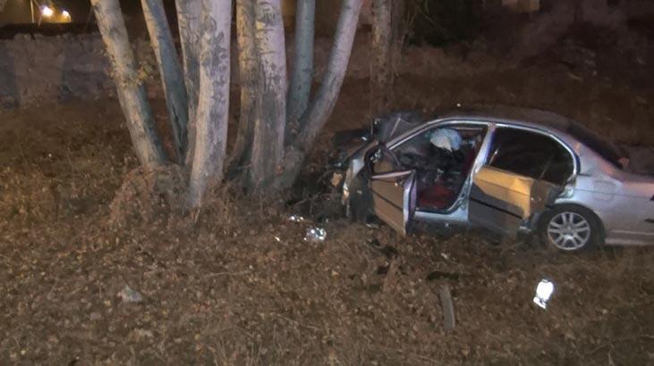 Metrelerce sürüklenip ağaca çarptı: 1 ölü