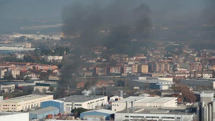 Barcelona'da yangın