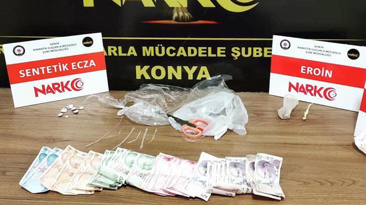 Konya'da uyuşturucu ticaretine 10 tutuklama