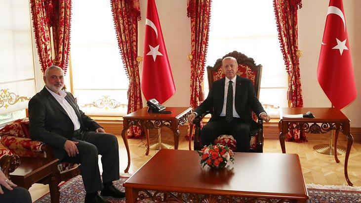 Cumhurbaşkanı Erdoğan, Hamas Siyasi Büro Başkanı Haniye ile görüştü