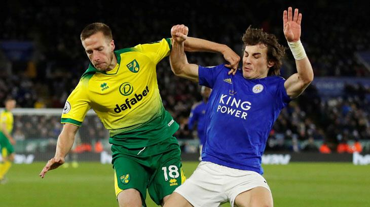 Leicester 8 maç sonra puan kaybetti (Leicester City – Norwich City: 1-1)