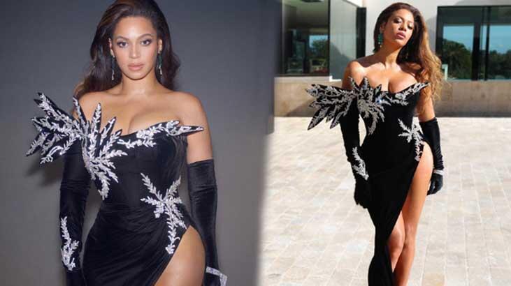 Beyonce derin bacak dekoltesiyle çok konuşuldu
