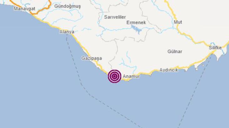 Son dakika   Mersin'de korkutan deprem! Büyüklüğü...
