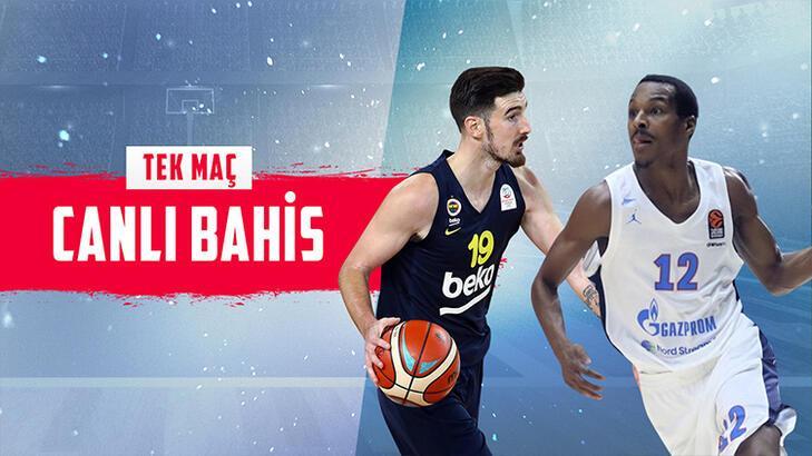 Fenerbahçe Beko - Zenit maçı canlı bahis heyecanı Misli.com'da