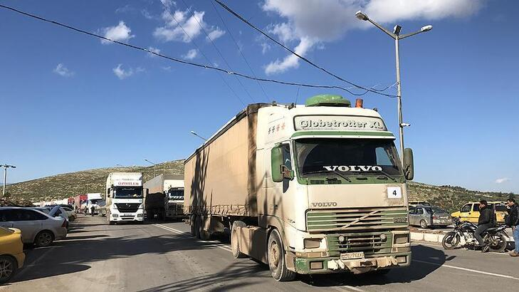 BM'den İdlib'e 42 TIR'lık insani yardım