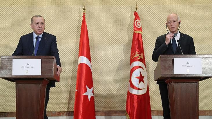 Son dakika... Cumhurbaşkanı Erdoğan'dan Tunus'ta önemli açıklamalar