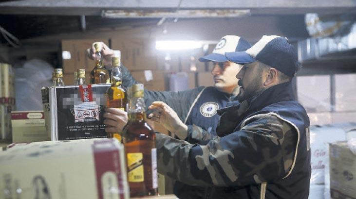 Yılbaşı öncesi operasyon! 10 bin 404 şişe sahte içki yakalandı