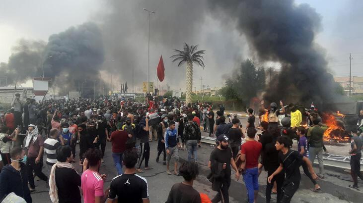 Irak'ta bir ilk! Gösteriler petrol üretimini durdurdu