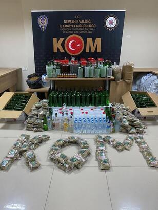 Nevşehir'de yılbaşı öncesi kaçak içki denetimi