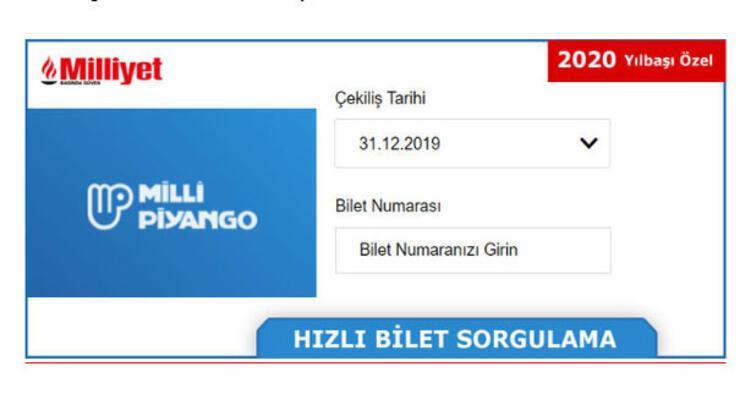 İşte Milli Piyango yılbaşı ikramiye bilet numarası sorgulama motoru - MPİ (gov tr) 2020 çekilişi sonuç amorti ekranı