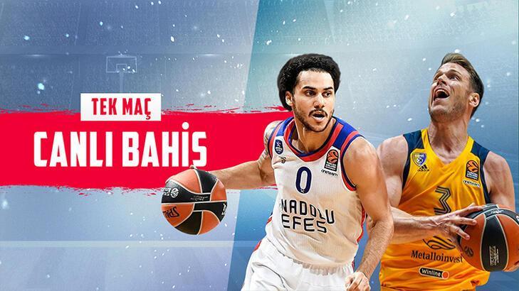 Anadolu Efes - Khimki maçı canlı bahis heyecanı Misli.com'da