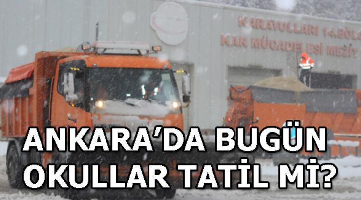 Ankara Valisi Vasip Şahin'den kar tatili açıklaması! Ankara'da bugün okullar tatil mi?