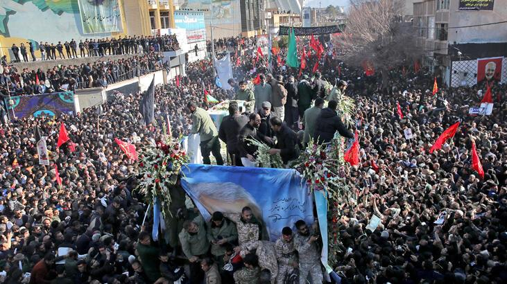 Kasım Süleymani'nin cenazesinde izdiham! 50'yi aşkın ölü, 213 yaralı