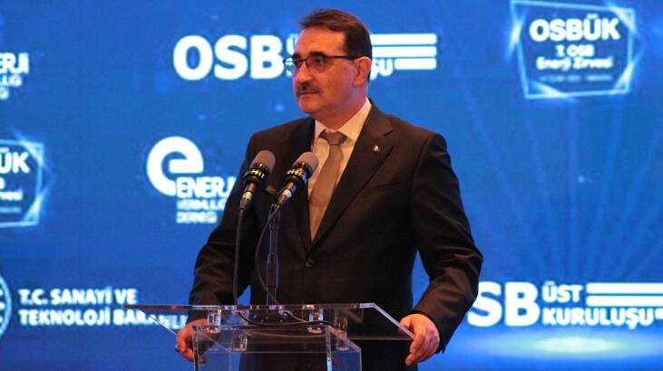 Bakan Dönmez 7. OSB Enerji Zirvesi'nde konuştu