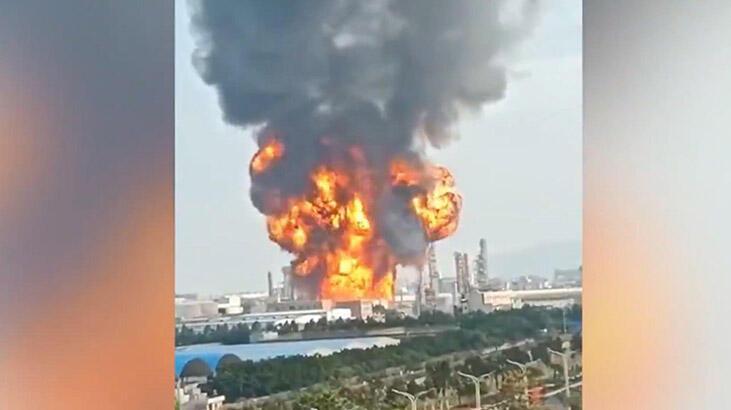 Kimya fabrikasında büyük yangın!
