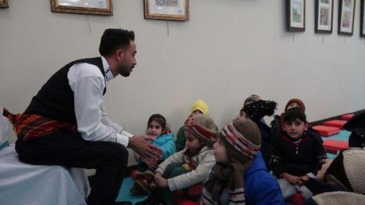 Erzurum'da çocuklar 'Anadolu Masalları'yla buluştu