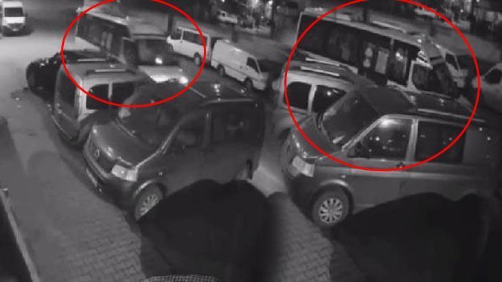 Uyuyakalan minibüs sürücüsü dehşet saçtı!