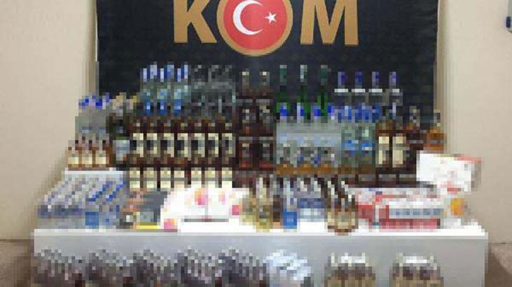 Bursa'da kaçak içki ve sigaraya 2 gözaltı