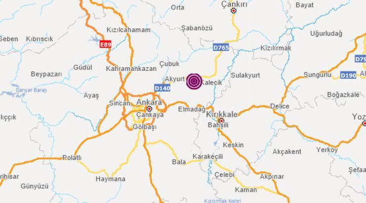 Son dakika! Ankara'da peş peşe depremler! Depremlerin büyüklüğü...