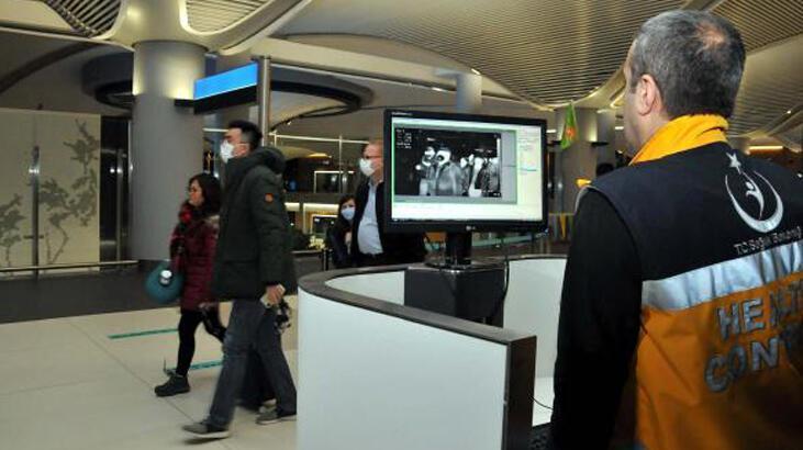 İstanbul'da Çin'den gelen yolcular termal kameralarla kontrol ediliyor