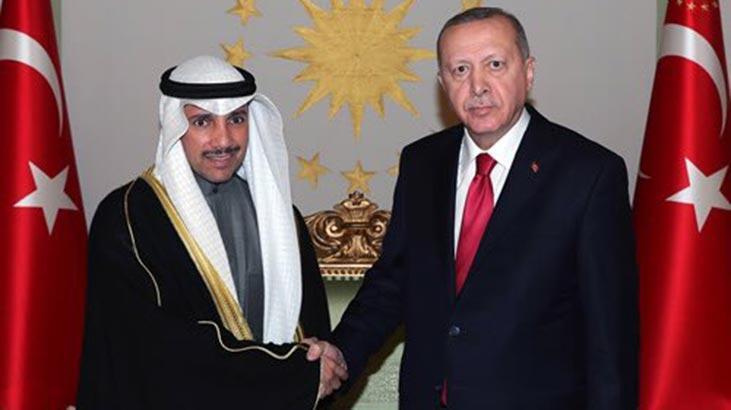 Cumhurbaşkanı Erdoğan, Kuveyt Meclis Başkanı'nı kabul etti